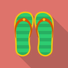 Slippers icon. Modern Flat style with a long shadow