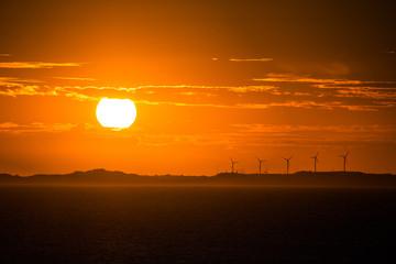 Energia ao pôr do sol