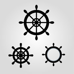 Rudder For Boat And Ship logo icon stock