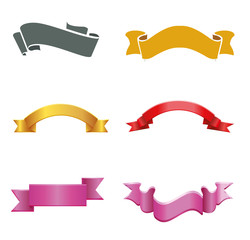 Ribbon banner labels vector