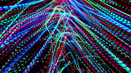 Extreme motion. Colorful lines loop background.