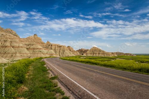 Foto Spatwand Canyon traveling the Badlands, South Dakota