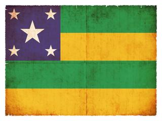 Grunge Flagge Sergipe (Brasilien)