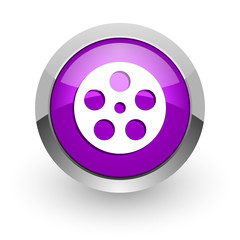 film pink glossy web icon