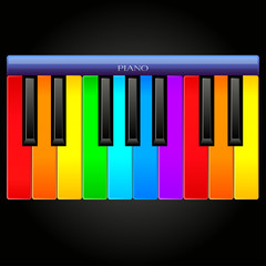 Rainbow classical piano icon