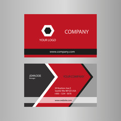 Red and Black Business Card template vector stock