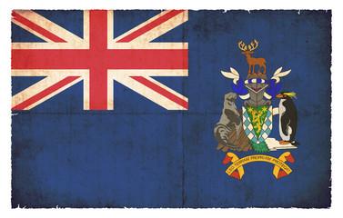 Grunge-Flagge Südgeorgien und Südliche Sandwichinseln (Großbrita