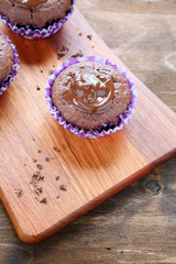 chocolate cupcake with filling