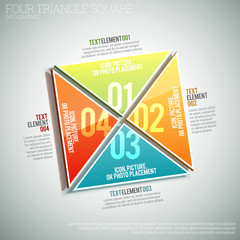 Four Triangle Square Infographic
