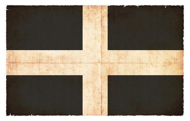 Grunge Flagge Cornwall (Großbritannien)