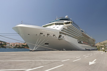 Luxurious Cruise Ship In Dubrovnik Croatia