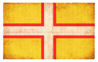 Grunge Flagge Dorset (Großbritannien)
