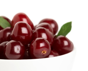 Ripe cherry closeup
