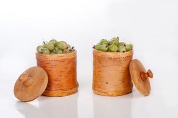 gooseberries in a box