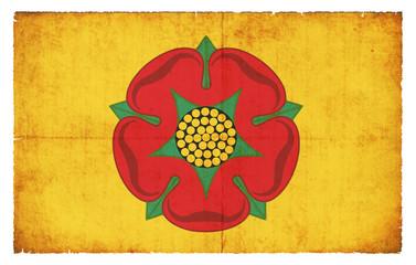 Grunge Flagge Lancashire (Großbritannien)