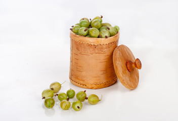 gooseberries in a box