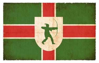 Grunge Flagge Nottinghamshire (Großbritannien)