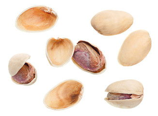 Pistachio isolated set