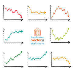 Handdrawn Market Charts Situations