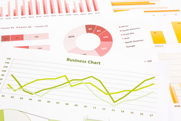 business charts, data analysis, marketing research, global econo
