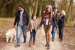 Leinwanddruck Bild - Multi Generation Family On Countryside Walk