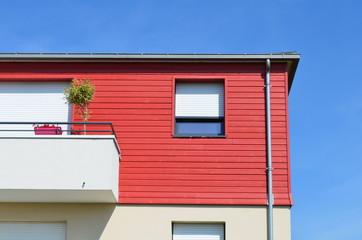 Façade d'une maison moderne