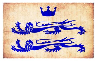 Grunge Flagge Berkshire (Großbritannien)