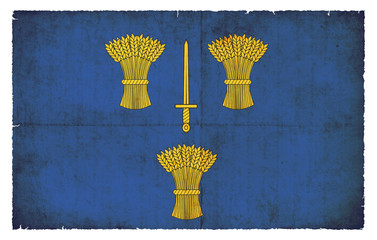 Grunge Flagge Cheshire (Großbritannien)