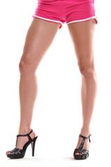 Piernas femeninas con zapatos de tacón,zapatos altos.