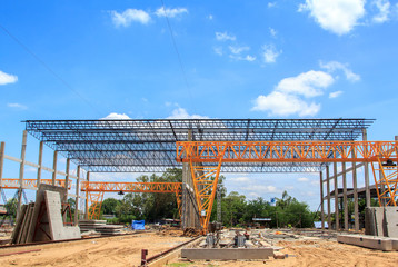 Construction of the plant.