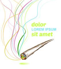 joint smoking marijuana poster