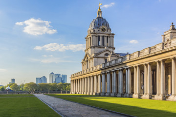 View of Old Royal Naval College (1873) building. London, England
