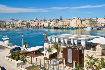 Panoramic view of Trani. Puglia. Italy.