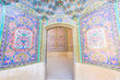 A wall of Islamic arts at Nasir Al-Mulk Mosque in Shiraz, Iran