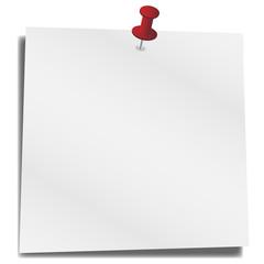 Postit weiß und leer