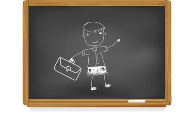 Tableau d'école : écolier