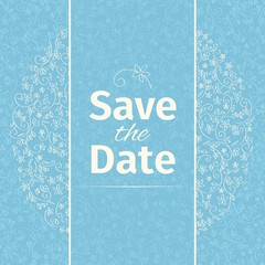 Wedding invitation template. vector.