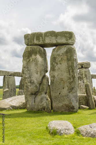Leinwanddruck Bild Ancient prehistoric stone monument Stonehenge near Salisbury, UK