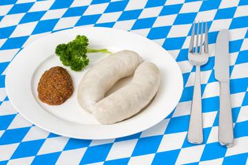 Weißwürste auf einem Teller