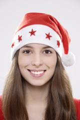 Junge Frau (16-17) , der Nikolaushut , Lächeln, Portrait