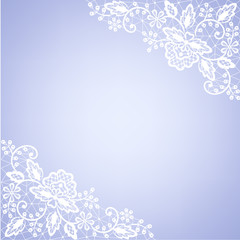 lace fabric white frame