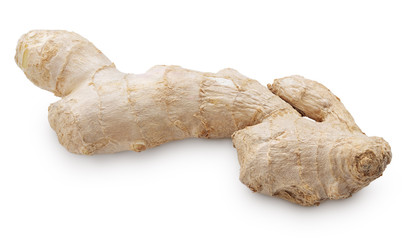 Ginger isolated on white background with clipping path