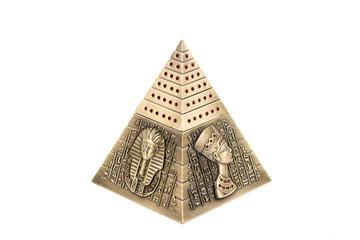 Egyptian pyramid, on a white background