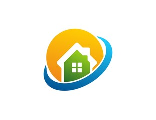 house logo, real estate,business globe marketing corporate