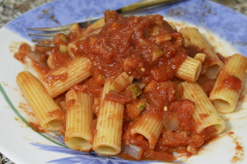 rigatoni withm vegetable ragù