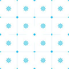 Blumenmuster  - blau/weiß