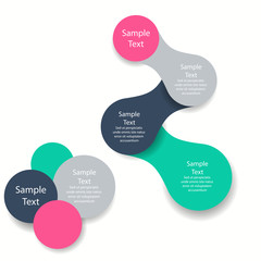 metaball colorful round diagram infographics