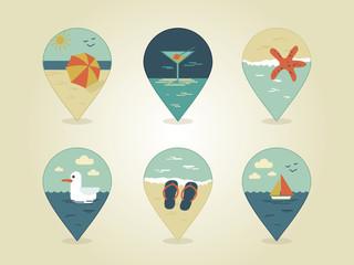 pin map icons summer