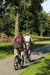 Familie beim Radfahren von Hinten