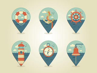 pin map icons marine